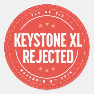 Pegatina rechazado XL de la piedra angular
