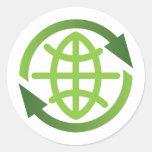 Pegatina: Reciclaje de símbolo con símbolo de la