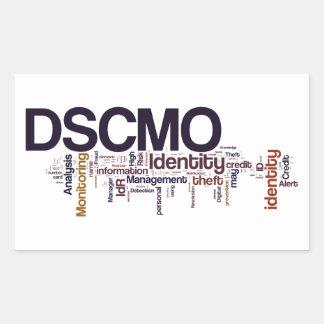 Pegatina rectangular de DSCMO