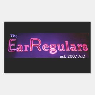 Pegatina rectangular de EarRegulars