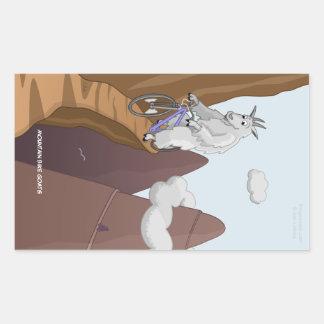 Pegatina rectangular de las cabras de la bici de