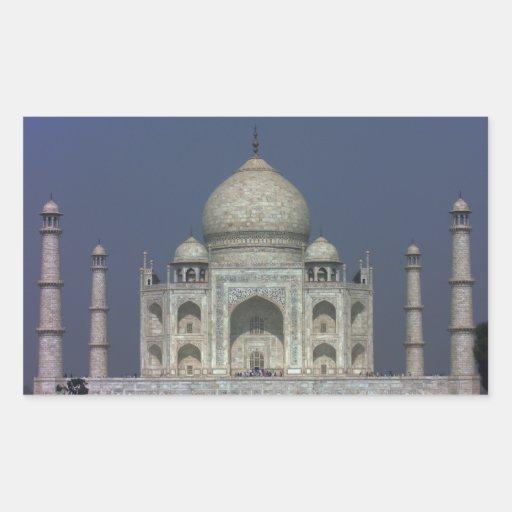 Pegatina rectangular del Taj Mahal