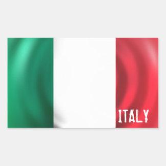 Pegatina Rectángulo-Formado bandera de Italia