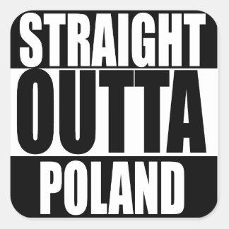 Pegatina recto de Outta Polonia