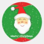 Pegatina Redonda - Santa Claus