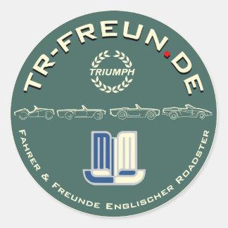 Pegatina redonda TR-Freun.de