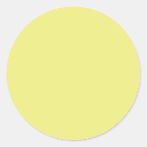 Pegatina redondo amarillo en colores pastel ligero