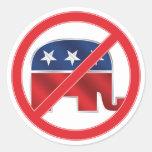 Pegatina redondo Anti-Republicano