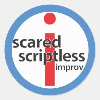 Pegatina redondo asustado del sello del logotipo