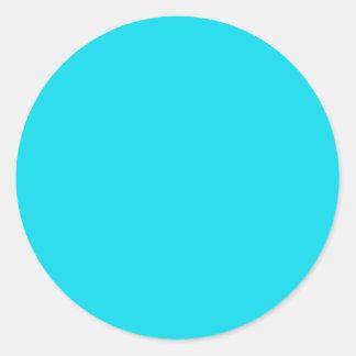 Pegatina redondo azul de la aguamarina