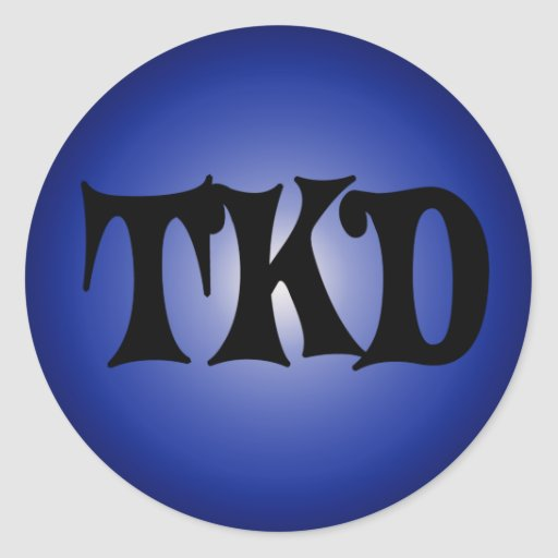 Pegatina redondo azul de TKD