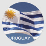 Pegatina redondo clásico de Uruguay
