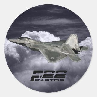 Pegatina redondo clásico del RAPAZ F-22