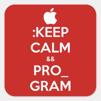 Pegatina redondo con el logotipo de Apple