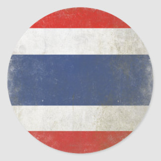 Pegatina redondo con la bandera apenada de