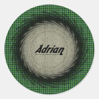 Pegatina redondo de Adrian