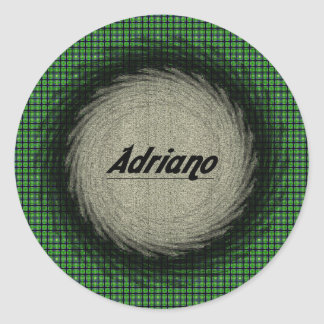 Pegatina redondo de Adriano