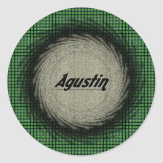 Pegatina redondo de Agustin