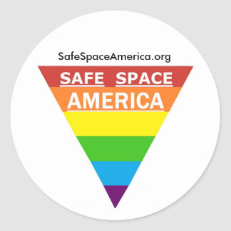 Pegatina redondo de América del espacio seguro