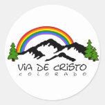 Pegatina redondo de Colorado VDC, pequeño