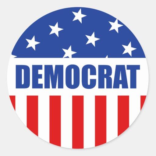 Pegatina redondo de Demócrata