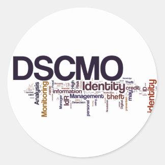 Pegatina redondo de DSCMO