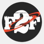 Pegatina redondo de F2F