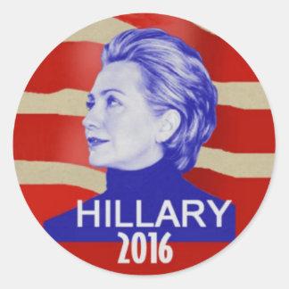 Pegatina redondo de Hillary 2016