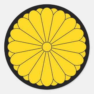 Pegatina redondo de Japón - del escudo de armas de