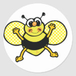 Pegatina redondo de la abeja