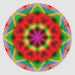 Pegatina redondo de la abstracción colorida