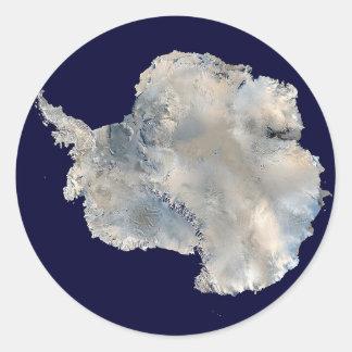 Pegatina redondo de la Antártida