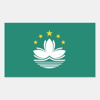Pegatina redondo de la bandera de Macao