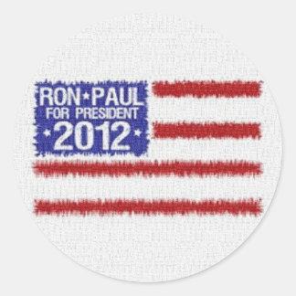 Pegatina redondo de la campaña de Ron Paul 2012