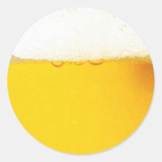 Pegatina redondo de la cerveza