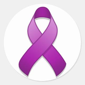 Pegatina redondo de la cinta púrpura de la