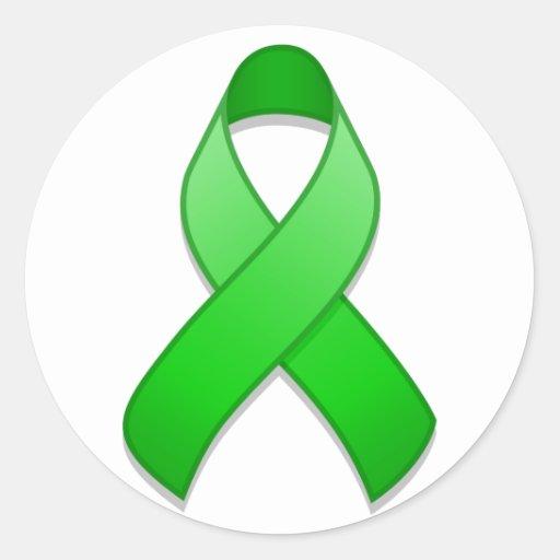 Pegatina redondo de la cinta verde de la