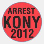 Pegatina redondo de la detención KONY 2012
