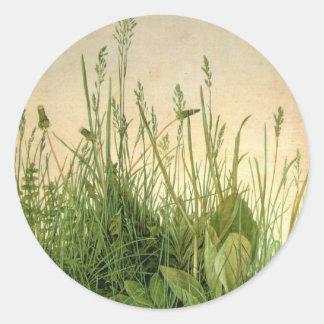 Pegatina redondo de la hierba salvaje de Albrecht