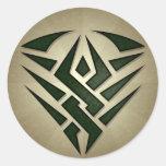Pegatina redondo de la insignia tribal