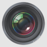 Pegatina redondo de la lente de cámara