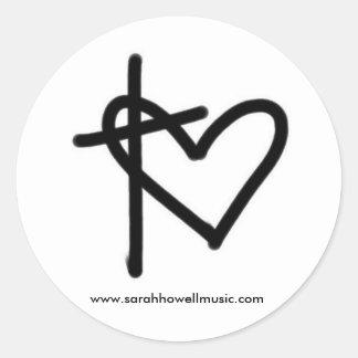 Pegatina redondo de la música de Sarah Howell