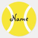Pegatina redondo de la pelota de tenis con el