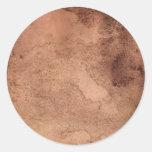 Pegatina redondo de la textura del papel del