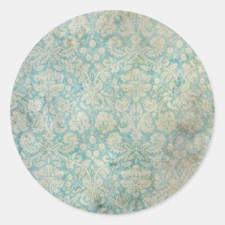 Pegatina redondo de la textura del papel pintado