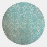 Pegatina redondo de la textura del papel pintado d
