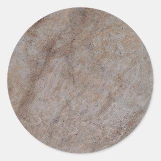Pegatina redondo de mármol oxidado de Brown