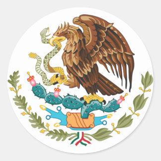Pegatina redondo de México Eagle