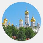 Pegatina redondo de Moscú el Kremlin