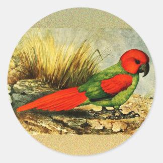 Pegatina redondo de Necropsittacus Borbonicus